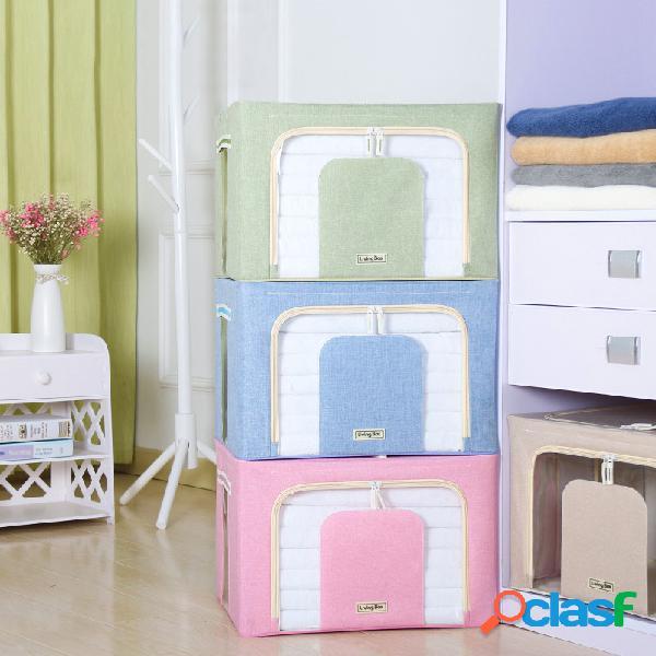 Almacenamiento sin sabor caja almacenamiento caja acabado de edredones de ropa caja armazón de acero múltiple plegable caja almacenamiento de edredones caja