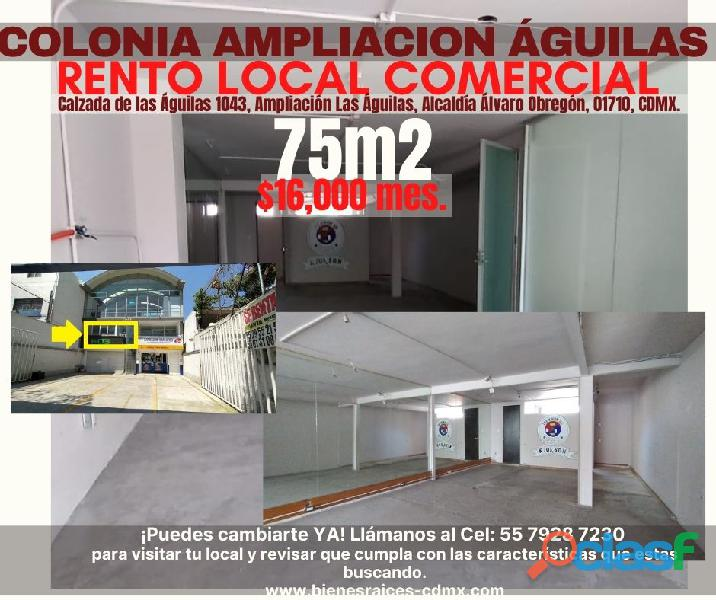 Local comercial col. ampliación águilas, álvaro obregón, cdmx.