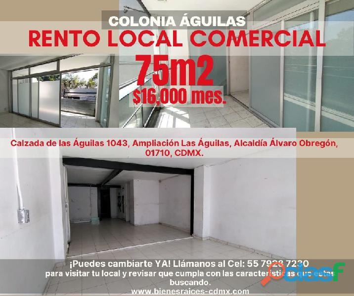 Local comercial en renta en col. águilas, álvaro obregón, cdmx.