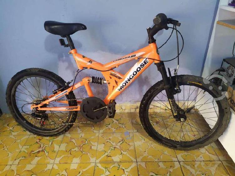 Bicicleta mongoose suspencion montaña rodada 20 7