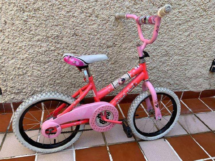 Bicicleta huffy minnie r16 para niña