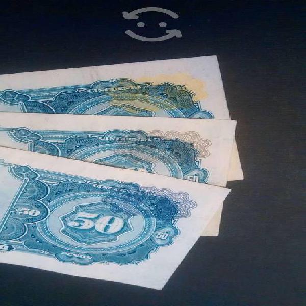 Billetes de 50 ignacio allende sellos diferentes