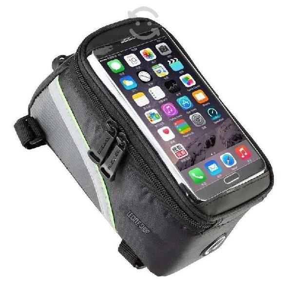 Bolsa mochila porta celular bicicleta estuche