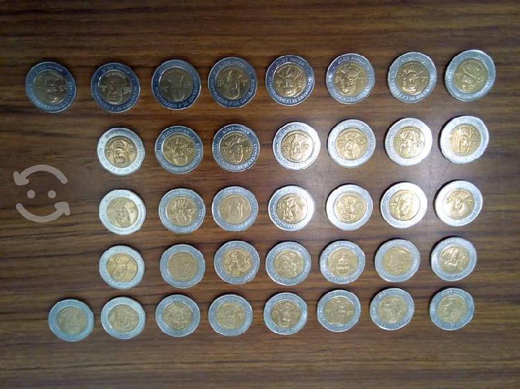 Colección completa 37 monedas de 5