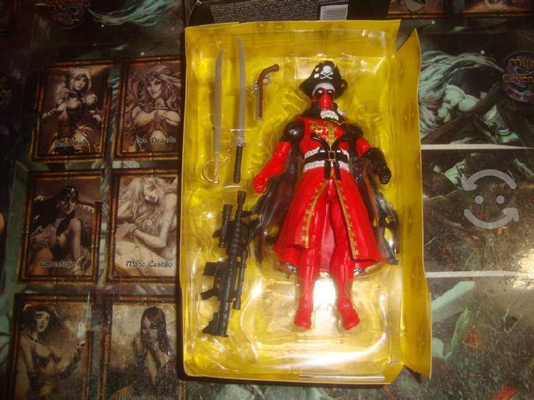 Deadpool pirata con accesorios