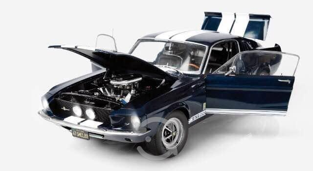Ford mustang shelby gt 500 mod 1967 - escala 1:08