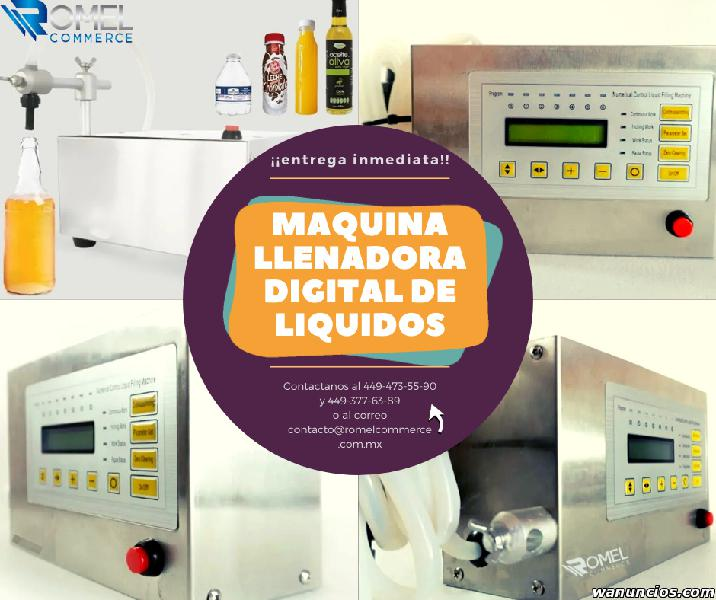 Maquina llenadora digital de liquidos