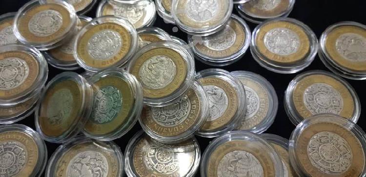 Moneda diez nuevos pesos centro de plata