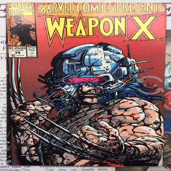 Marvel comics presents weapon x #77, 78 y 79