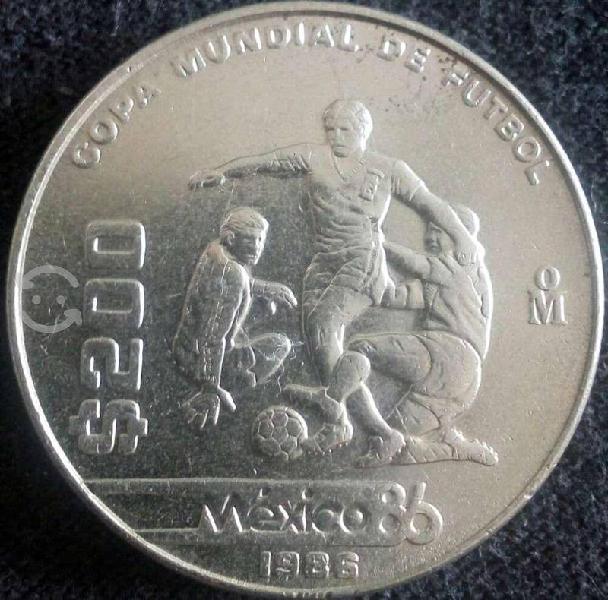 Moneda mundial mexico 86 de coleccion