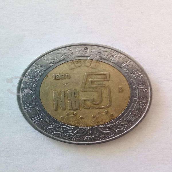 Moneda de 5 pesos 1994