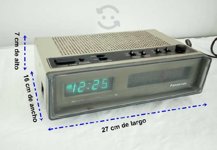 Radio antiguo reloj despertador panasonic nacional