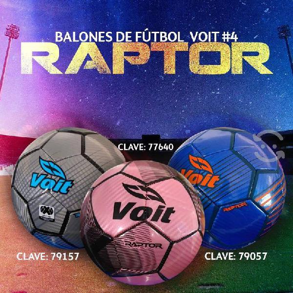 Balón de fútbol voit raptor número 4