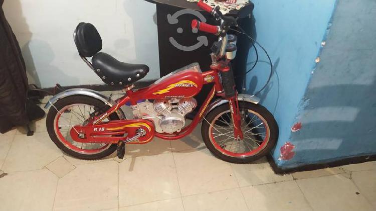 Bici moto... color roja