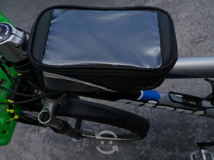 Bolsa para celular y herramientas para bicicleta