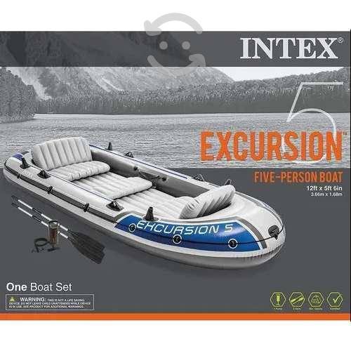 Bote lancha inflable intex excursion 5