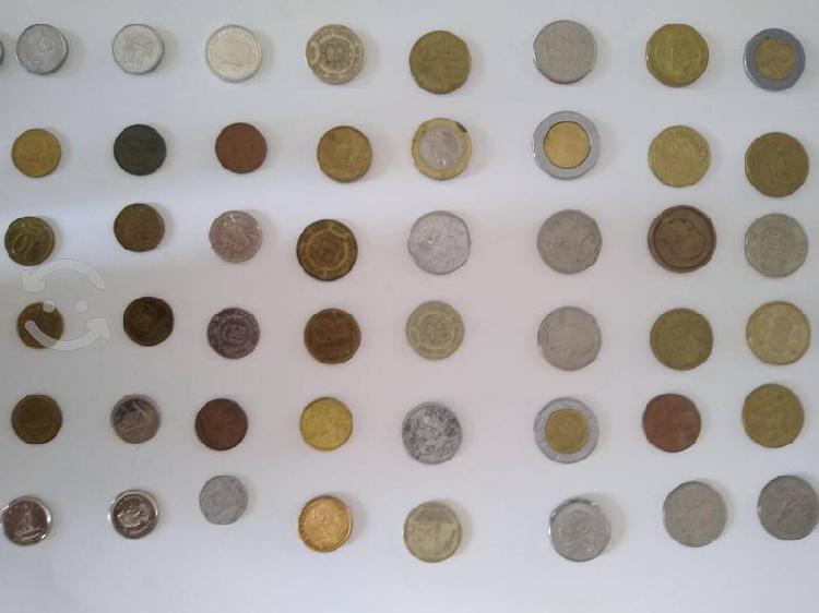 Colección de monedas de diferentes países 43 pzas.