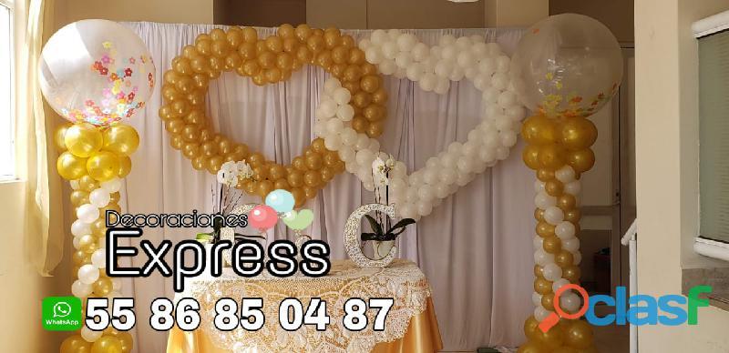 Decoración con globos para todo tipo de eventos