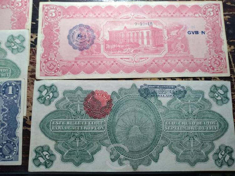 Vendo billetes sin circular años 1914 y 1915