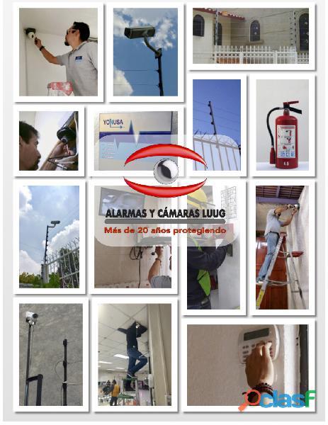 Alarmas y cámaras de seguridad