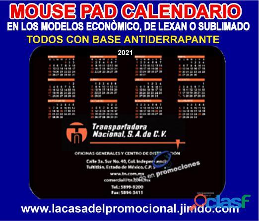 CALENDARIOS 2021 EN FORMA DE MOUSE PAD