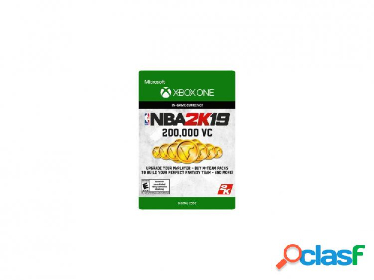 Nba 2k19 200.000 vc, xbox one - producto digital descargable