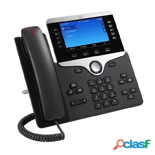 Cisco teléfono ip con pantalla 5'' 8841, alámbrico, altavoz, negro/plata