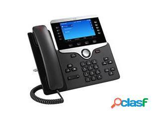 Cisco teléfono ip con pantalla 5'' 8851, alámbrico, altavoz, negro/plata