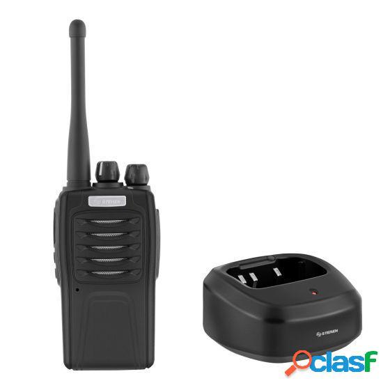 Steren radio análogo portátil de 2 vías rad-710, 32 canales, negro