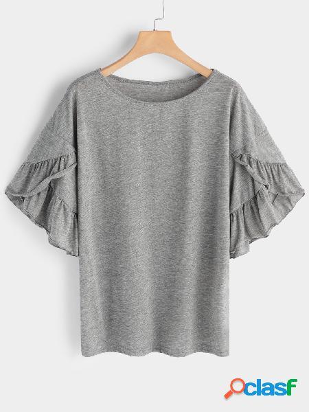 Camisetas manga corta cuello redondo gris