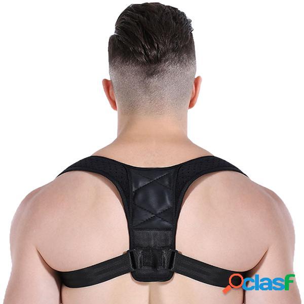 Corrector de la postura del cuidado de espalda correa ajustable de la ayuda del hombro de la abrazadera de la clavícula para los hombres de las mujeres mejora s