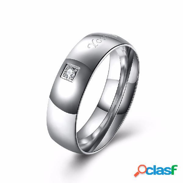Regalo dulce del anillo de boda del zircon del anillo de los pares
