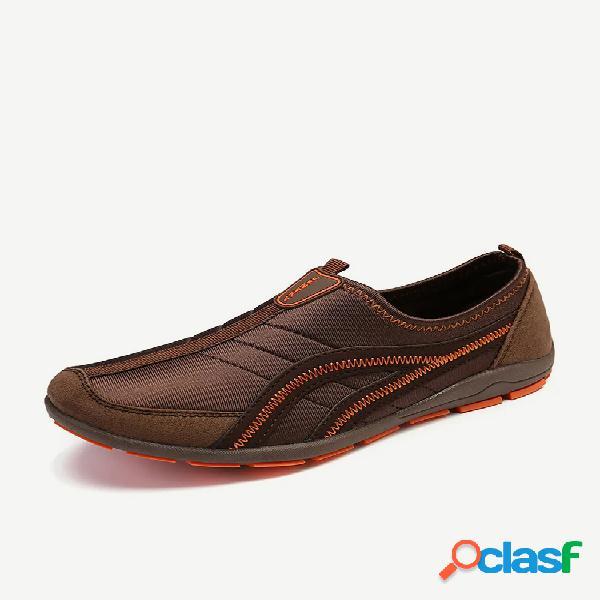 Mujer al aire libre empalme zapatillas deportivas antideslizantes de malla transpirable calzado casual