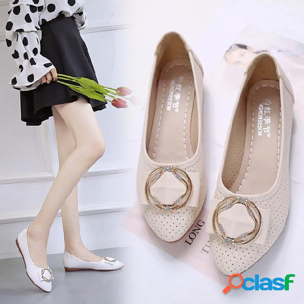 Sandalias zapatos planos de cuero para mujer temporada arco salvaje zapatos pequeños hueco soft calzado inferior para mujeres