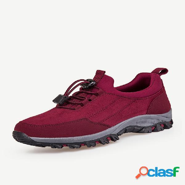 Mujer tamaño grande al aire libre zapatillas de deporte casuales planas cómodas y antideslizantes para caminar