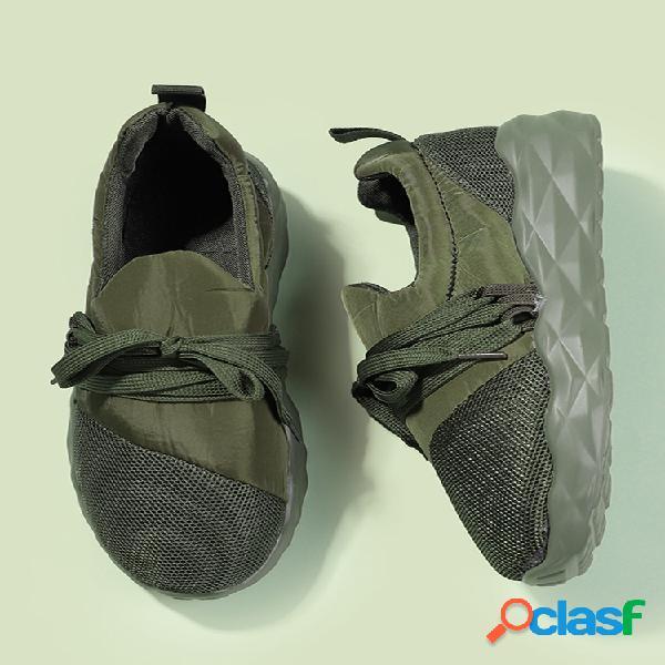 Mujer zapatillas de deporte para caminar de gran tamaño con cordones y punto cómodo al aire libre