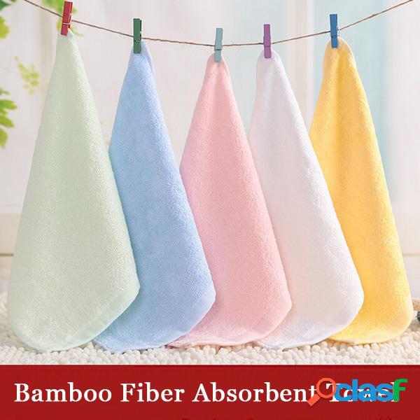 25 * 25cm de fibra de bambú pañuelo antibacteriano toalla absorbente suave de la cara del bebé