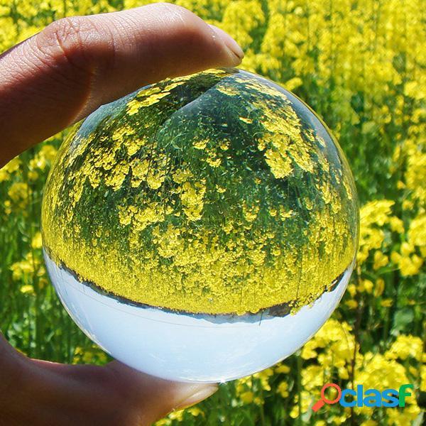 4 colores de cristal de cuarzo raro bola de sanación curativa bola de cristal transparente con regalo de decoración de casa de pie