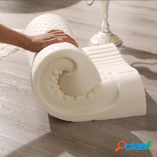 Almohada de contorno de látex orgánico para cuello almohada cervical certificada para el dolor contorno ergonómico diseño para soporte de la columna para dormir