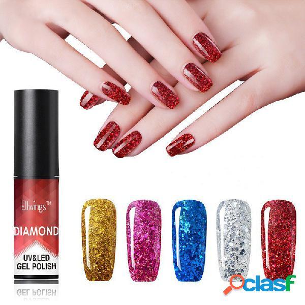 Diamond nail polish polish metal lentejuelas gel polish necesita uv / led lámpara nail art 20 color para la opción