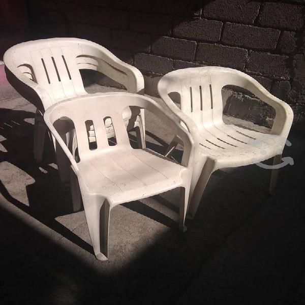 6 sillas plástico