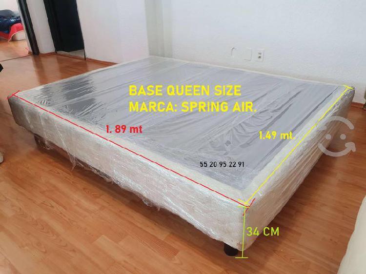 Base de cama queen size spring air cama