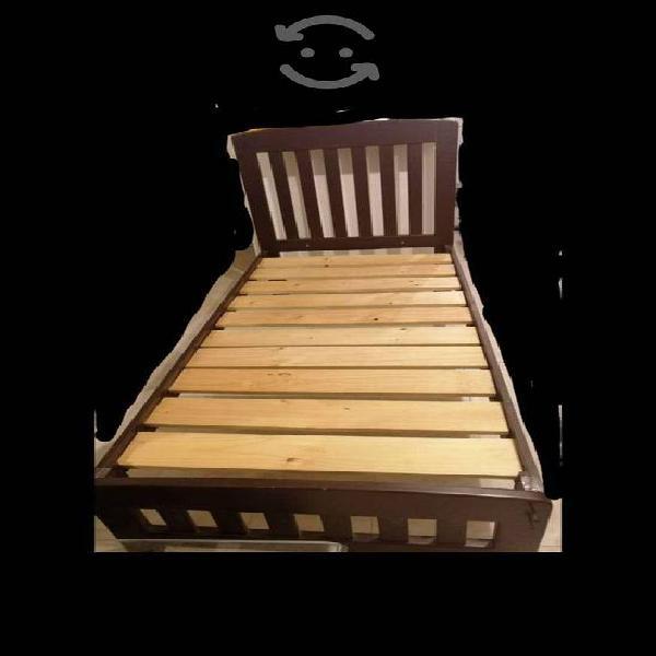 Cama de madera individual