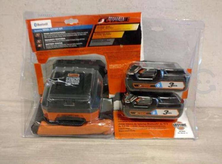 Ridgid kit 2 baterias 18v 3ah cargador maletin