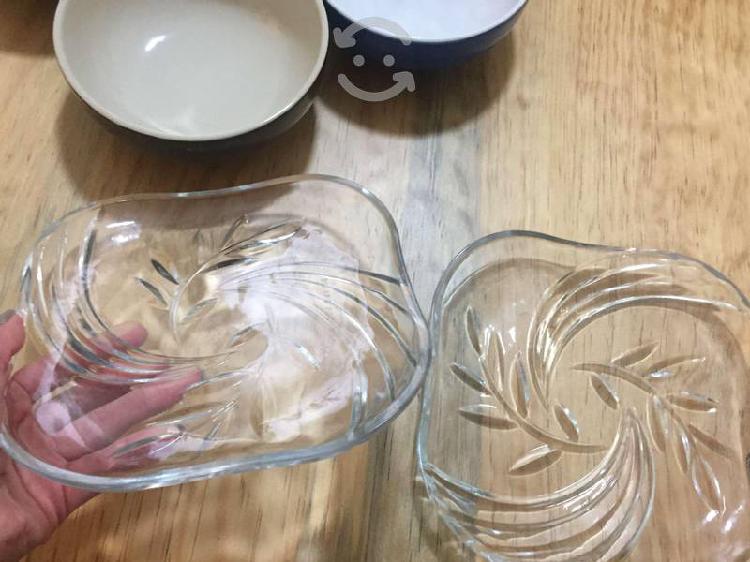 Tazones, platos y vasos (30 pzs en total)