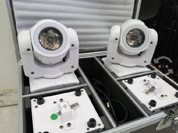 4 cabezas móviles led beam con case