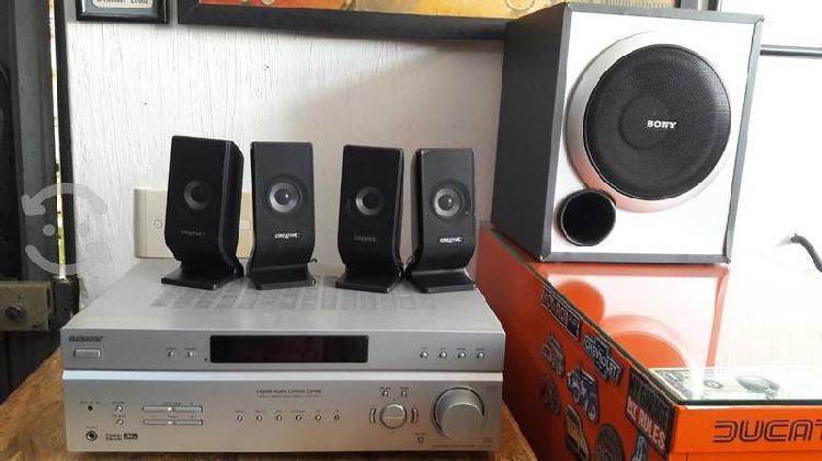 Amplificador teatro en casa sony 5.1 str k680