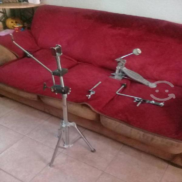 Atriles clamp y pedal. atril para timbales con va