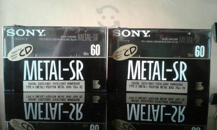 Cassettes audio metal sony