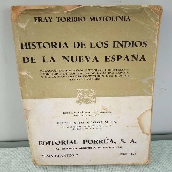 Libro historia de los indios de la nueva españa de